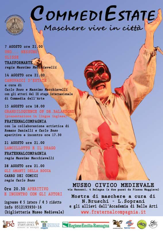 COMMEDIESTATE – maschere vive in città – agosto 2013